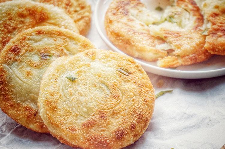 中式早餐之元气葱油饼