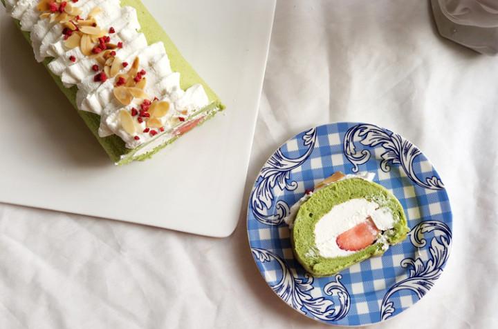斑兰戚风蛋糕卷
