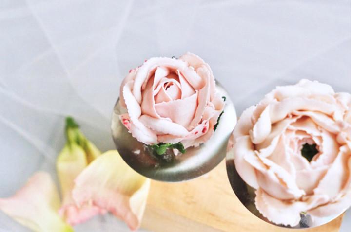 韩式裱花(五)自然系芍药、玫瑰、澳梅