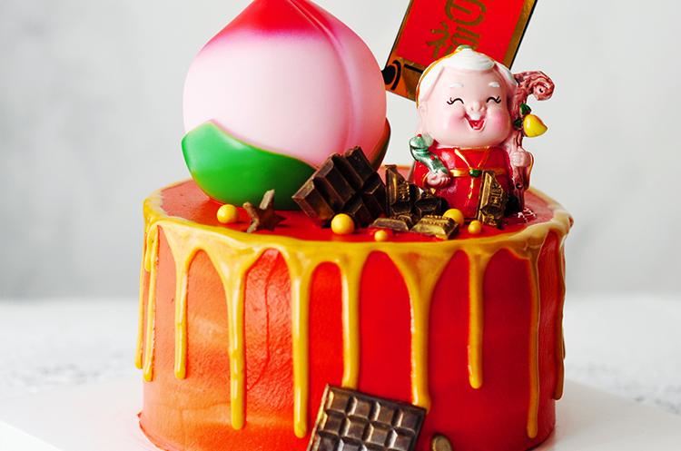 中国风祝寿蛋糕