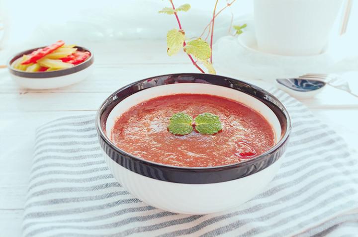西芹焖煮烤彩椒&西芹番茄低脂浓汤
