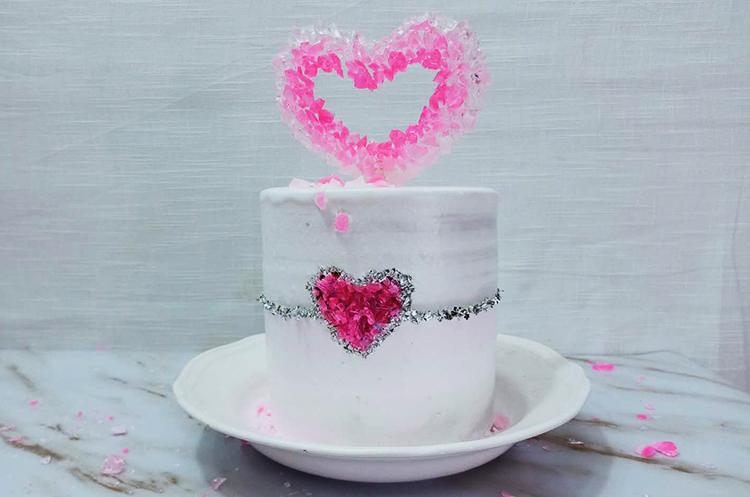 唯美糖艺晶石蛋糕