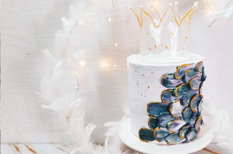 糖艺皇冠蛋糕