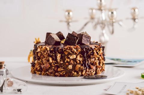 夜色坚果巧克力蛋糕