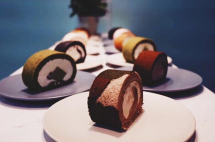 迷彩蛋糕卷