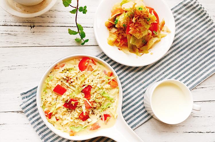日式味增卷心菜&卷心菜燕麦蒸蛋