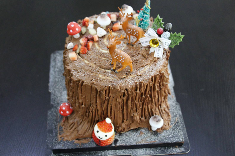 圣诞劈材蛋糕