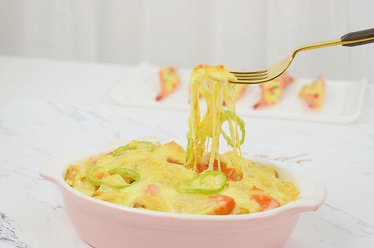 番茄鸡肉焗饭&蒜蓉芝士焗虾